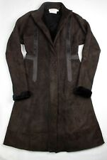Calvin Klein Collection Dark Brown Victorian Genuine Lamb Shearling Long Coat 2