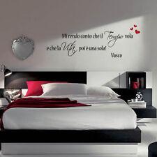 adesivo murale wall stickers frase adesivi vasco rossi amore stupendo a0002