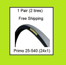 1 Pair 25-540 Wheelchair Tires 24 x 1 Primo Racer V-Track PR1MO 24x1 Pneumatic
