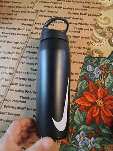 PORTLAND Nike Twist-Top Insulated Water Bottle 24oz. Black/White