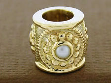 Bd030 Genuine 9ct Solid Yellow Gold Natural Pearl Bead Charm Vintage Style