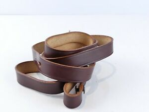 VINTAGE BROWN LEATHER CAMERA CASE STRAP FOR LEICA ETC RR59