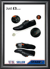 12 Pair Wholesale Joblot Black Brown Faux Leather Smart Formal Lace Up