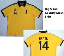Polo Ralph Lauren Country Flag Rio Brazil Big Pony Crested Mesh Rugby Shirt LT