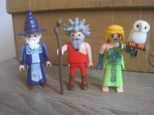 LOT 3 PLAYMOBIL PLAYMOBILE MAGICAL THEME WIZARDS & WITCH & ACCESSORIES ******