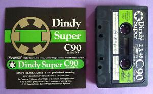 MC Musicassetta DINDY SUPER C90 c 90 Vintage Compact Cassette Audio Tape USATA