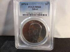1971S Silver Eisenhower Dollar PCGS MS66
