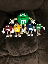 """M & M Bendy Figures 4"""" Set Of 4 Red Yellow Blue Green and 6""""  Bendy Green Girl"""