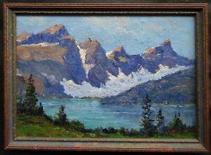 ATT. Jack Wilkinson Smith OLD Impressionist Mountain Lake Study Oil Painting NR