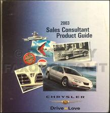 2003 Chrysler Dealer Album Crossfire 300M Sebrint PT Cruiser Concorde Pacifica