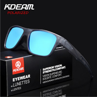 KDEAM Men Polarized Sport Sunglasses Outdoor Driving Cycling Square Glasses New