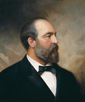 "James A. Garfield Portrait by Ole Peter Hansen Balling -17""x22"" Art Print -00142"