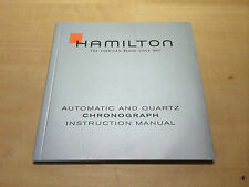 Booklet HAMILTON Automatic and Quartz Chronograph - Instruction Manual