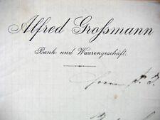 BALLENSTEDT 1894, A. GROHSMANN- Bank-& Wahrengeschäft, Litho, Rechng Autograph28