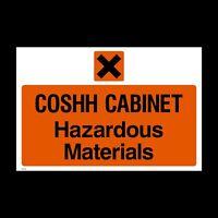 COSHH Cabinet Hazardous Materials Plastic Sign or Sticker - A4 (MISC152)