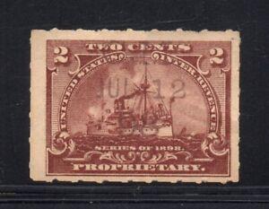 Scott # RB27, Used, F, 2¢ Battleship, C. M. Marchand, New York, NY