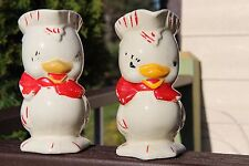 2 Vintage Chick / Duck Pitchers, Hand Painted, Shawnee? Bisque? collectible