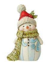 Enesco Jim Shore Mini Snowman With Pom Pom Nib Item # 6006660