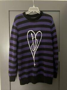 The Smashing Pumpkins Striped Knit Sweater Small Purple Billy Corgan Heart Zero