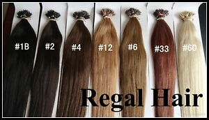 """NANO TIP TIPS RING 1g 18"""" INDIAN HUMAN HAIR EXTENSIONS REMY straight loops"""