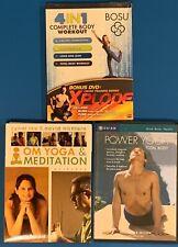 Bosu 4in1 Complete Body Workout + Xplode(new)Om Yoga/Meditation +Power Yoga-used
