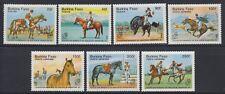 BURKINA 1985 Horses Argentina Scott 724-730 Complete Mint Never Hinged