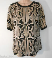 M&S Black Mix Party Formal Office Top Blouse (NEW)-UK size 8-£29.50