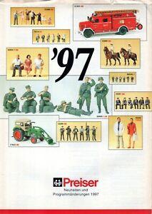 catalogo PREISER 1997 Neuheiten HO N Z G 1:32 1:35          D     aa