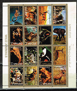 Ajman Fauna Wild Animals mini sheet 1972