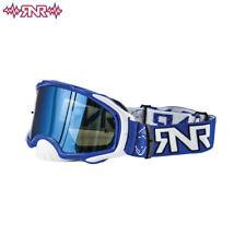 Rip N Roll RNR Platinum Tear Off Goggles 48mm WVS Blue Mirror lens NEW Moto x