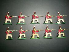 TEN NICELY PAINTED AIRFIX 54MM NAPOLEONIC BRITISH INFANTRY  Lot 2