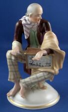 Nice Augarten Wien Vienna Porcelain Hurdy Gurdy Player Figure Figurine Porzellan
