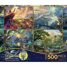 Thomas Kinkade Disney 4 in 1 Jigsaw Puzzle 500 piece Lion King Pan Jungle New!