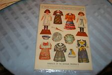 ANTIQUE EMBOSSED CUT OUT PAPER DOLLS & COSTUMES SHEET SEALED