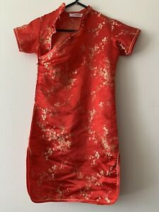 GIRLS CHINESE DRESS COSTUME WORN ONCE Not Sure On Size I'd Say 8-12 YEARS