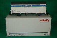 MARKLIN 1 grand modèle wagon couvert point S privatwagen 58265 + boite OVP
