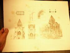 dessin planche eglise d agnetz oisearchive monuments historiques beaux arts