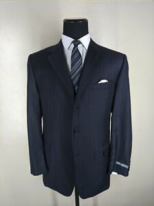 Hickey Freeman NEW Suit Made In USA 100% Wool 3 Btn 2 Vents Pleated Pants 42 Reg