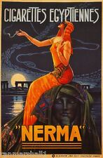 """Nerma"" Cigarettes Egyptiennes French Nouveau Poster Print Art Advertisement"