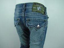 True Religion RICKY SUPER T STRAIGHT Jeans Men SZ 31 IN MEDIUM BLUE HORIZON