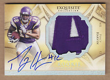 09 2009 Exquisite HOLOFOIL Percy Harvin Letter A Jersey Patch Auto RC #'d /99