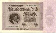 ALLEMAGNE GERMANY 100000 M 1923 état voir scan 512