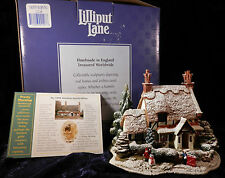 """Lilliput Lane Retired Christmas Special Edition Lodge """"Frosty Morning"""" 1998 Mib"""