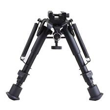 Tactical Rifle Gun Bipod Adjustable Spring Mount Stand Dual Height with Adapter