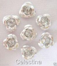 Any Purpose Metallic Flower Jewellery Making Beads