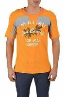 Just Cavalli Men's Multi-Color Graphic Crewneck Short Sleeve T-Shirt US M IT 50