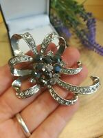 Silver// Gold  Colour Poppy flower Ribbon bow brooch