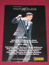 MICHAEL BUBLE - 2014  AUSTRALIAN TOUR  -  PROMO TOUR POSTER