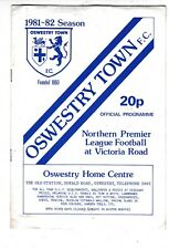OSWESTRY TOWN V WITTON ALBION NORTHERN PREMIER LEAGUE  17/4/82