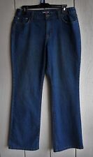 Womens 10 Style&co. Bootcut Mid-Rise 2% Stretch Dark Blue Denim Jeans 31 x 32
